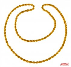 22 Kt Gold Rope Chain (26 Inch) ( Plain Gold Chains )