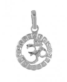 18Kt White Gold Om Pendant ( Ganesh, Laxmi and other God Pendants )