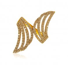 22K Gold Wide Ring ( Ladies Signity Rings )