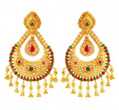 22K Gold Chand Bali ( Exquisite Earrings )