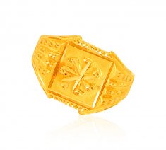 22karat Gold Fancy Mens  Ring  ( Mens Gold Ring )