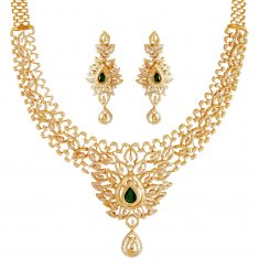18kt Diamond Necklace Set ( Diamond Necklace Sets )