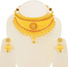 22Karat Gold Bridal Choker Set ( Bridal Necklace Sets )