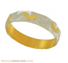 Two Tone Wedding band (22Kt)
