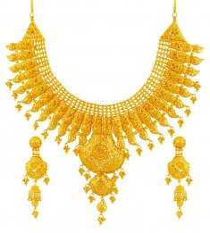 Exquisite 22K Bridal Necklace Set ( Bridal Necklace Sets )