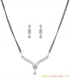 18K Diamond Mangalsutra Set ( Diamond MangalSutras )