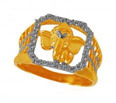 22k Ganesha  Mens Ring ( Religious Rings )