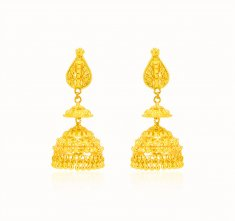 22Kt Gold Fancy Earrings ( Long Earrings )