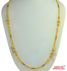 Multicolored stone Fancy Chain ( 22Kt Long Chains (Ladies) )