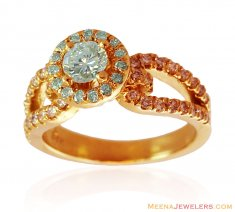 18K Yellow Gold Diamond Ring ( Diamond Rings )