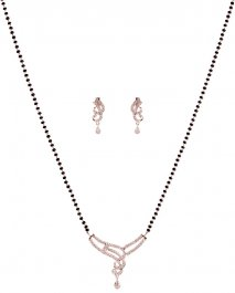 18 Kt Gold Diamond Mangalsutra Set ( Diamond MangalSutras )