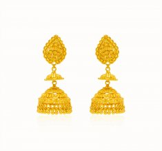 22kt Gold Long Earrings ( Long Earrings )