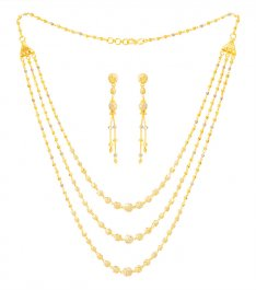 22k Gold Three Layered Fancy Set