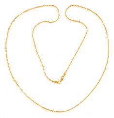 22k Two Tone Chain (24In) ( Plain Gold Chains )