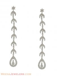 18K Gold Long Earrings ( Exquisite Earrings )