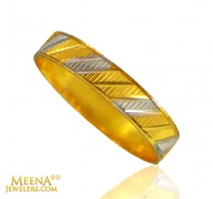 22kt Gold band (2 Tone)