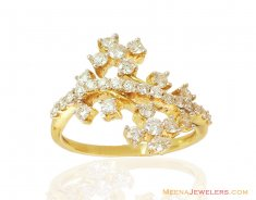Fancy Cluster Diamond Ring 18k ( Diamond Rings )