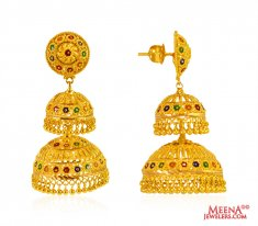 Gold Earrings (22 Karat) Jhumki ( Exquisite Earrings )