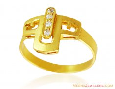 22k Fancy Gold Matte Finish Ring