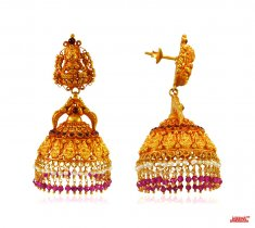 22K Gold Jhumki Earrings ( Exquisite Earrings )