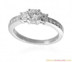 18K Diamond Solitaire Ring ( Diamond Rings )