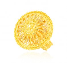 22K Gold Ladies Ring (Adjustable) ( Ladies Gold Ring )