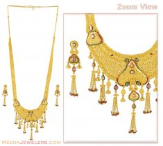 22K Gold Patta set with Stones