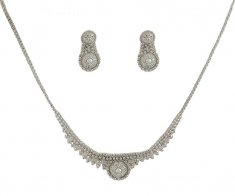 White Gold Necklace Set (22K) ( White Gold Sets )