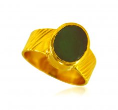 22 Kt Gold Emerald Stone Ring