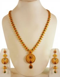 22Karat Gold Long Necklace Set ( Gold Designer Sets )