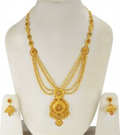 22k Gold Long Patta Haar Set ( Bridal Necklace Sets )