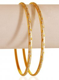 22karat Gold Two Tone Bangles (2pc) ( Two Tone Bangles )