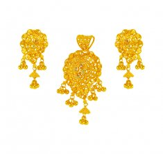 22K Gold Pendant Set ( Gold Pendant Sets )