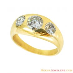 18kt Mens Solitaire Band  ( Diamond Rings )
