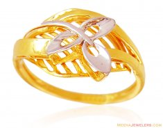 22K Gold Two Tone Ring ( Ladies Signity Rings )