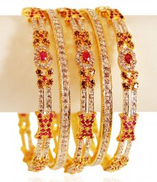 22K Gold Bangle Set (5 PC) ( Set of Bangles )