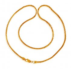 22K Gold Chain 18 In
