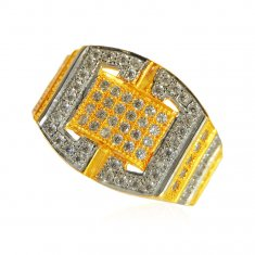 22Kt Gold Mens Stones Ring ( Mens Signity Rings )