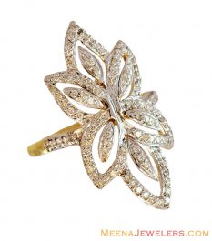 Exclusive Floral Diamond Ring 18K ( Diamond Rings )