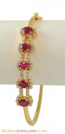 18k Ruby, Diamond Bracelet
