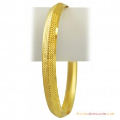 Light Weight Punjabi Kada  ( Mens Gold Kada )