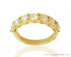 Fancy 7 Stone Band 18 k  ( Diamond Rings )