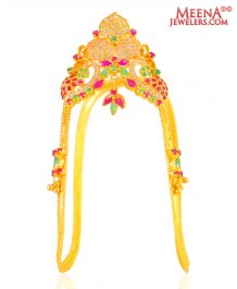 22 Kt Laxmi Vanki For Kids ( Gold Armlet (Baju Bandh) )