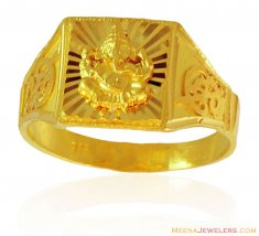 Ganesh Jee Mens 22K Ring ( Religious Rings )