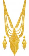 22K Gold Long  Necklace Set