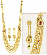 Exquisite Gold Antique Necklace Set