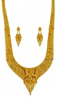 22kt Gold tri color Patta Haar Set