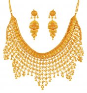22K Gold Traditional Necklace Set